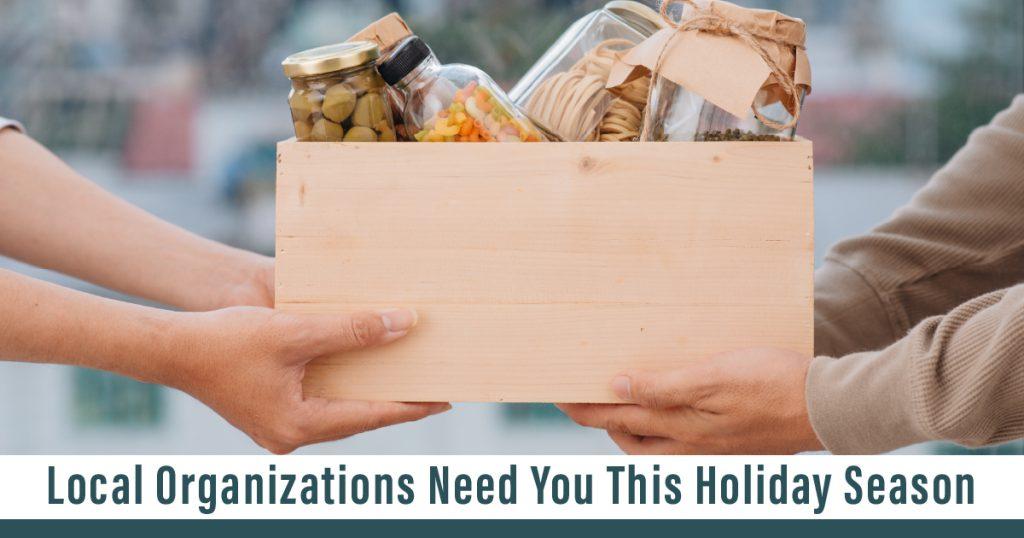 Organizations Need You This Holiday Season