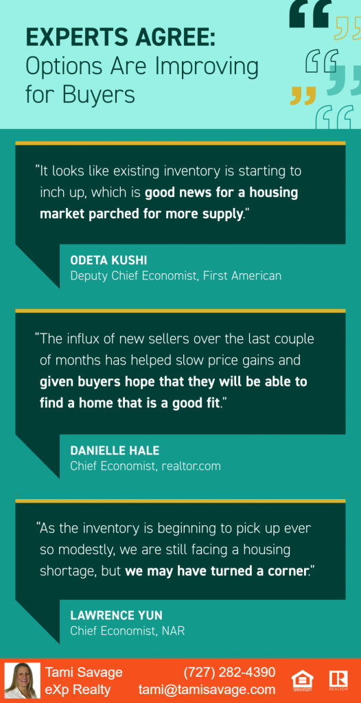 Experts Agree: Options are Improving for Buyers.